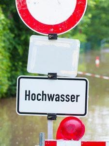 Wasserschaden-Hochwasser